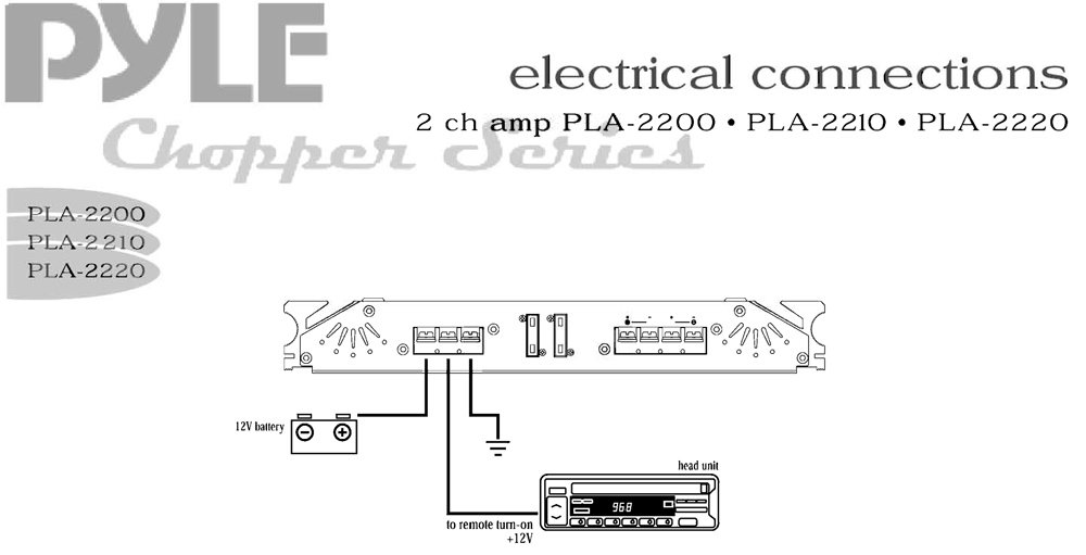 PLA2220_diagram pyle pla2220 marine and waterproof vehicle amplifiers on pyle wire diagram at crackthecode.co