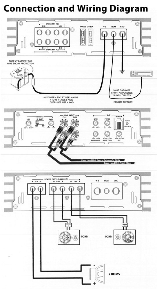 Audio Wiring Diagrams For Amplifiers