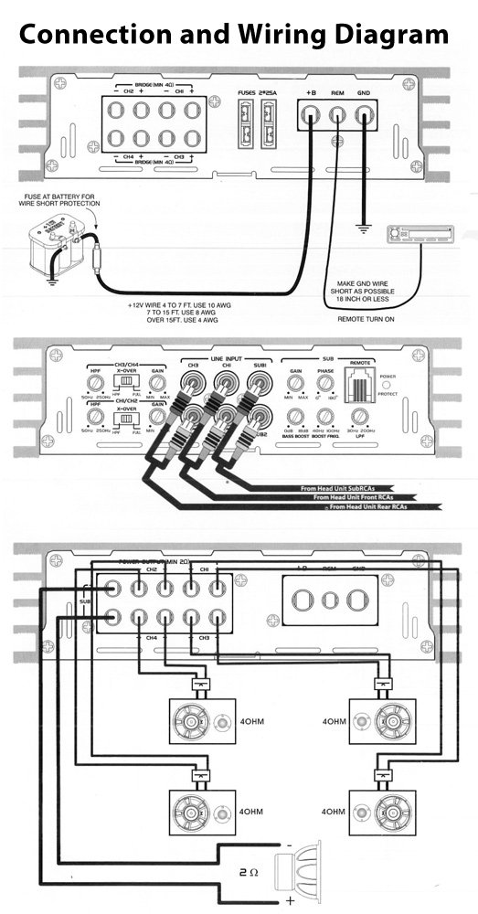 amazon com pyle plba530frd blade 6 800 watt 5 channel pyle wiring diagram #9