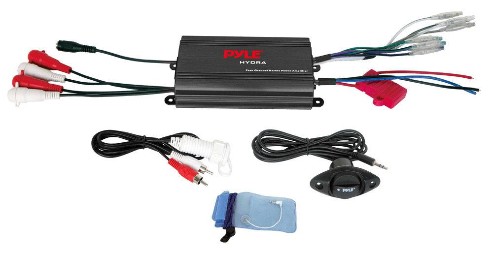 Amazon     Pyle    PLMRMP3B 4 Channel 800 Watt Waterproof Micro    Marine       Amplifier     GPS   Navigation