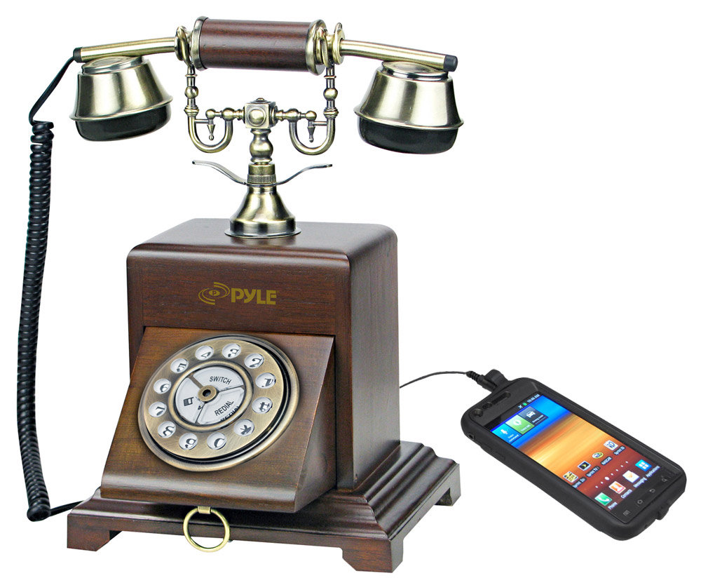 pyle prt25i retro antique classic desk phone corded telephones electronics. Black Bedroom Furniture Sets. Home Design Ideas