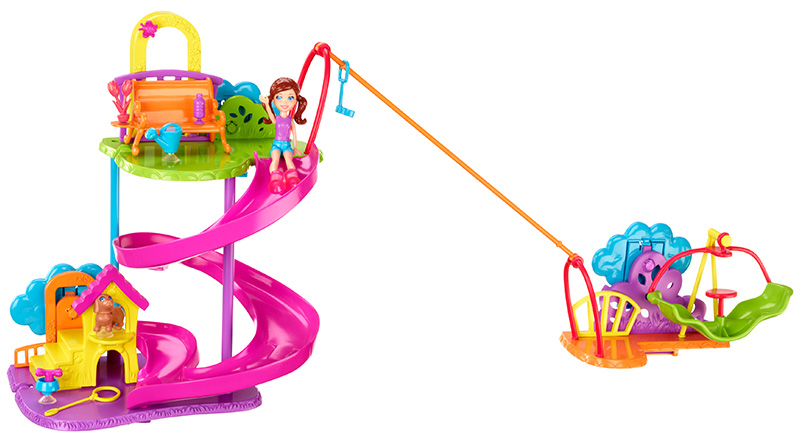 Amazon.com: Polly Pocket Wall Party Pet Park Playset: Toys