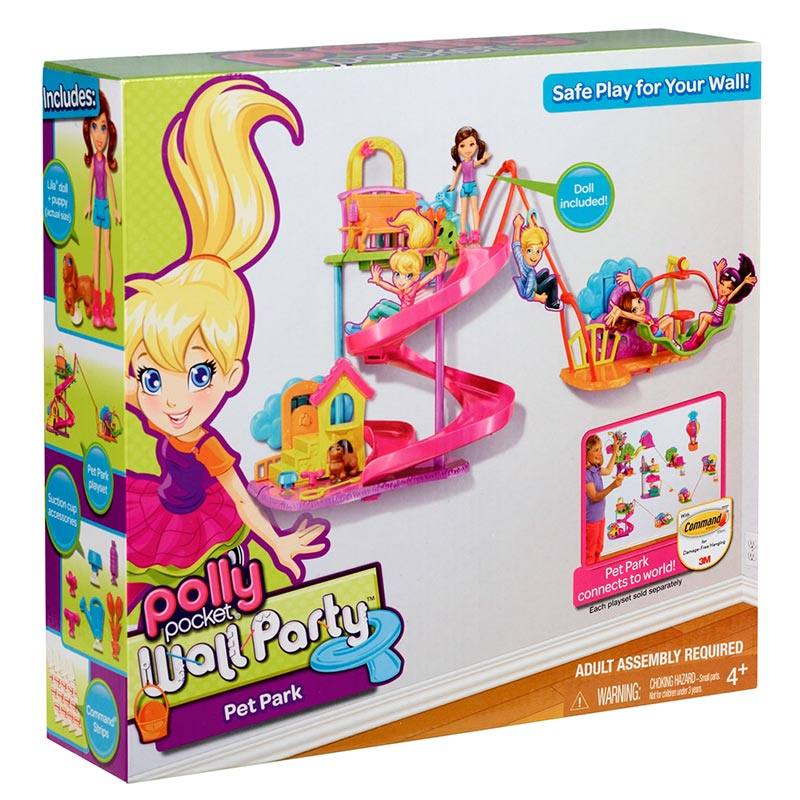 Amazon.com: Polly Pocket Wall Party Pet Park Playset: Toys & Games