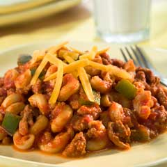Turkey chili mac ragu recipe