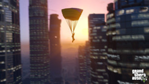 Parachute through the city