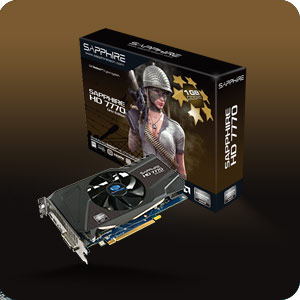 Sapphire Radeon Card sample with Boxing