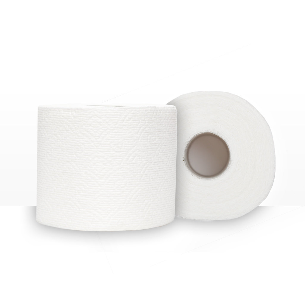 Dual-Textured Toilet Paper Tissue That is Soft, Strong, and Absorbent
