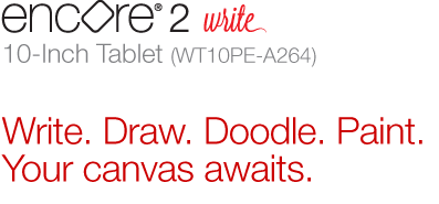 Encore 2® Write 10-Inch Tablet (WT10PE-A264)|Write. Draw. Doodle. Paint. Your canvas awaits.