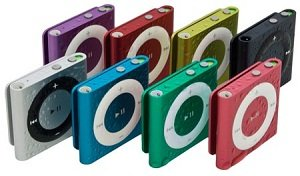 Waterfi-coated colored iPods