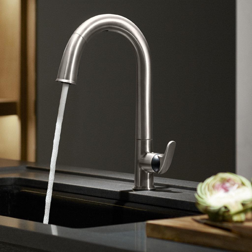 KOHLER K-72218-B7-CP Sensate Touchless Kitchen Faucet, Polished Chrome ...