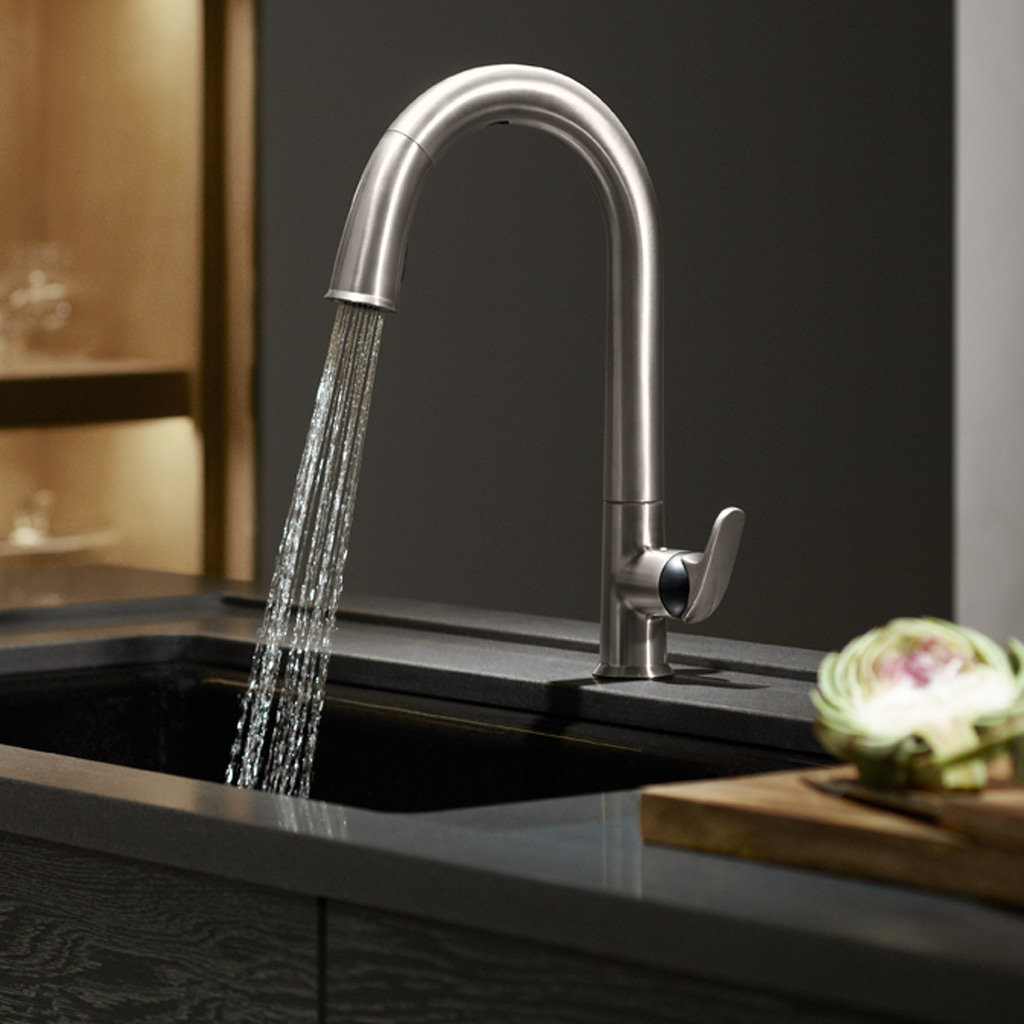 Kitchen Faucets Kohler : KOHLER K-72218-VS Sensate Touchless Kitchen Faucet, Vibrant Stainless ...