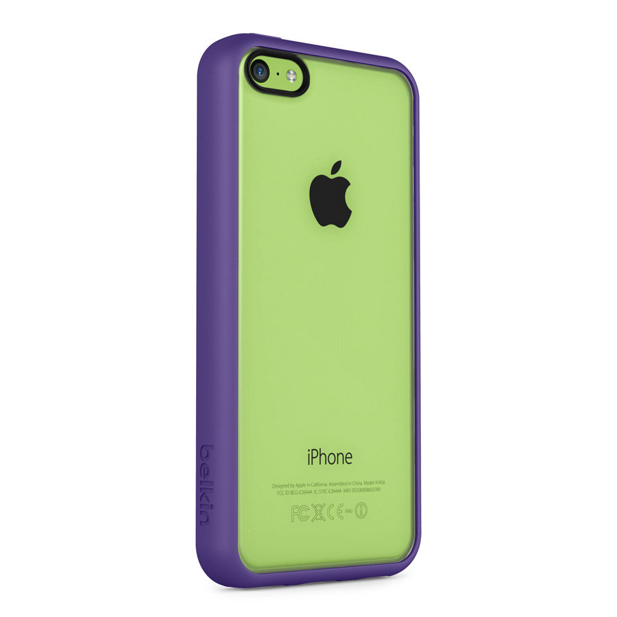 belkin view case cover for apple iphone 5c purple cell phones accessories. Black Bedroom Furniture Sets. Home Design Ideas