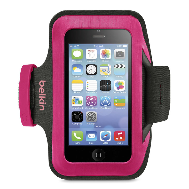 Amazon.com: Belkin Slim-Fit Armband for iPhone 5, 5S, 5C ...