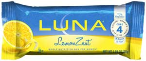 LUNA Bar Lemon Zest Product Shot