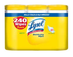 LYSOL Disinfecting Wipes Lemon & Lime Blossom (80 Count, Pack of 3) Product Shot