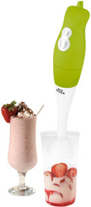 Big Boss 200 Watt Power 2-Speed Operation Immersion Hand-Stick Blender/mixer with a Mix/Measuring Cup (green handle) Product Shot