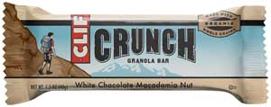 CLIF CRUNCH White Chocolate Macadamia Granola Bar Product Shot