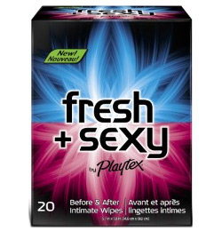 Playtex Fresh + Sexy Intimate Wipes, 20-Count Singles Product Shot