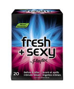 Playtex Fresh + Sexy Intimate Wipes, 20-Count Singles