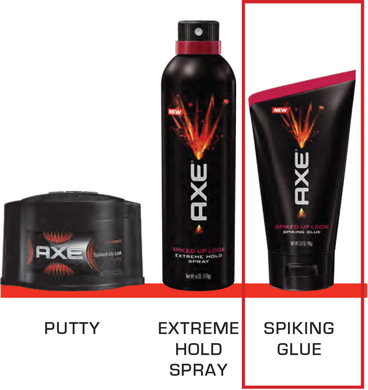 Axe hair gel spiked up look