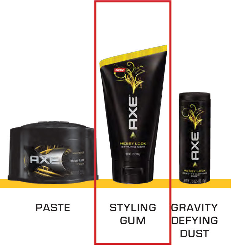 Hair Styling Gum: Axe Messy Look Styling Gum 3.2 Oz. Product Shot