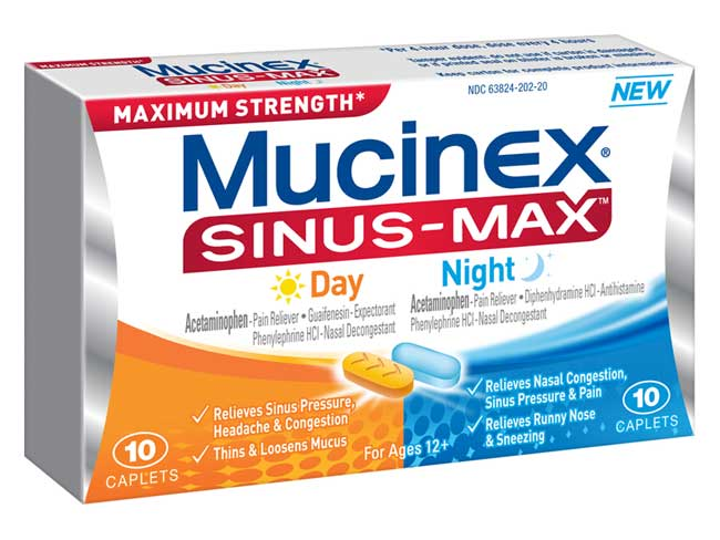 Amazon.com: Mucinex Sinus-Max Day and Night Caplets, 20 Count: Health