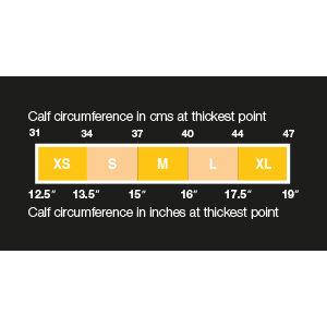 Calf Circumference Size Chart
