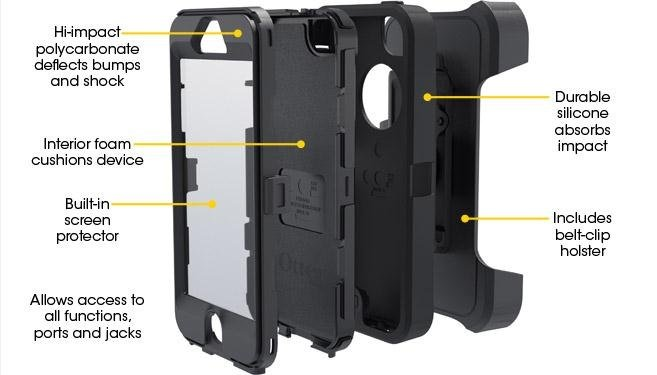 OtterBox Defender Series Case for iPhone 5 features