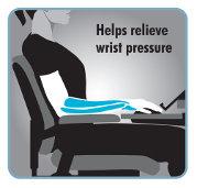 Helps relieve wrist pressure