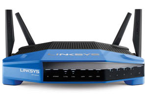 Linksys WRT1900AC Dual Band Gigabit Wi-Fi Router Product Shot