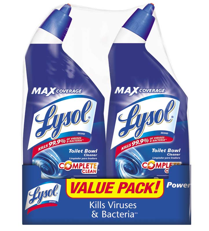 Lysol Toilet Bowl Cleaner Twin Banded Pack 48 Ounce Pack Of 6 Health Personal