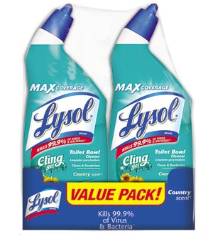 Lysol CLING - Country Scent 2/24 oz. Product Shot