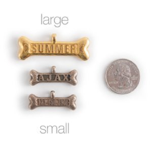 Dog Bone Tag in Small and Large Size