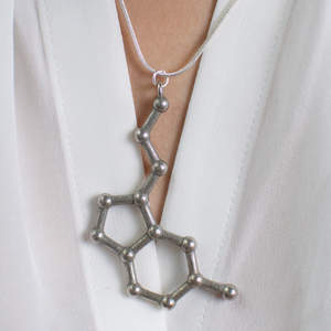 Wearing a Large Molecule Necklace