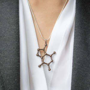 Wearing a Medium Molecule Necklace