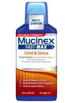 Maximum Strength Mucinex Fast-Max Cold & Sinus Liquid (6 Ounces)