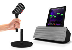 Philips Wireless Microphone and Bluetooth Speaker Product Shot