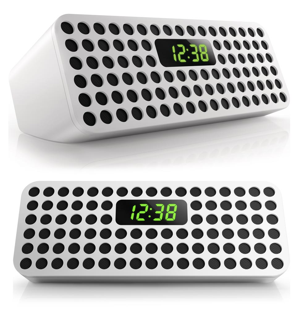 Amazon.com: Philips Bluetooth Wireless Speaker With Clock Display (White): MP3 Players & Accessories