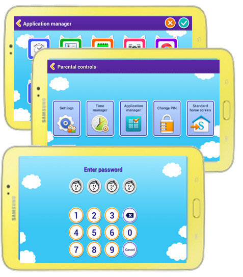 Samsung galaxy tab 3 kids edition 7 inch with orange bumper case touch screen - Six uses old tablet ...