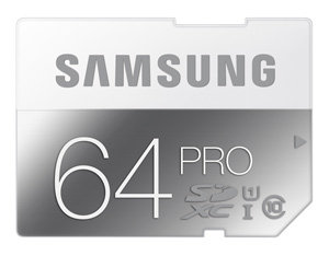 Samsung PRO 64GB SD Memory Card Product Shot