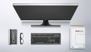 Samsung 24-Inch LED Monitor SD590PL Product Shot