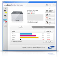 Samsung Printer Xpress M2875FW Mono Laser Multi Function Wireless Printer Product Shot
