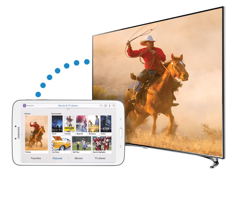 and share content with your Samsung 2013 Smart TV. View larger