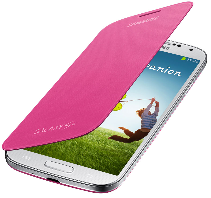 Samsung Galaxy S4 Flip Cover Folio Case (Pink)