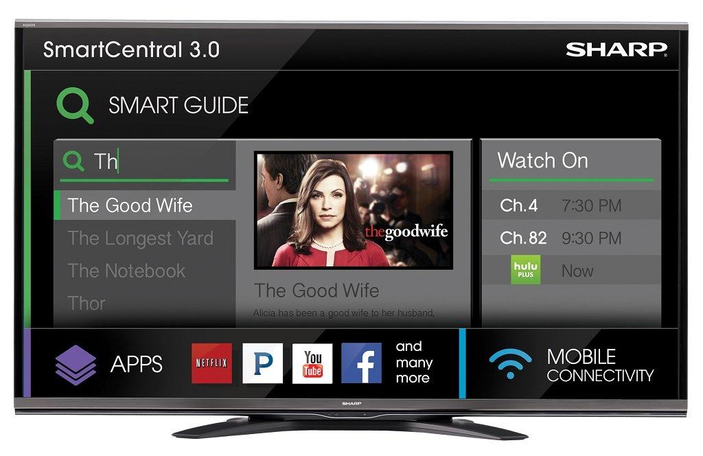 Sharp LC-60EQ10U 60-Inch Aquos Q 1080p 240Hz Smart LED TV (2014 Model)