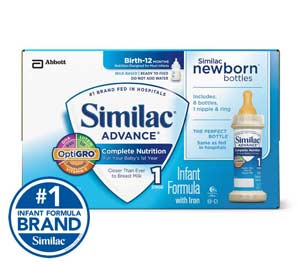 Similac Advance Infant Formula with Iron, Stage 1 Ready-to-Feed