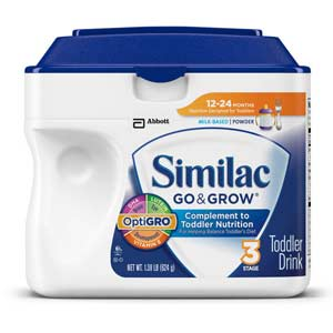 Similac Go & Grow Stage 3, Milk Based Toddler Drink with Iron