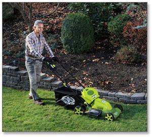 Sun Joe Mow Joe 20-IN Bag/Mulch/Side Discharge Cordless Self-Propelled Lawn Mower