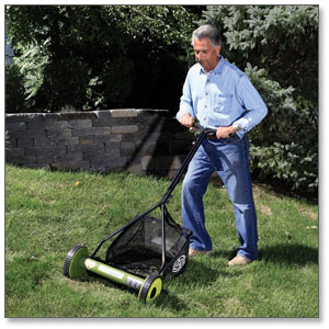 Sun Joe Mow Joe 16-IN Manual Reel Mower with Catcher