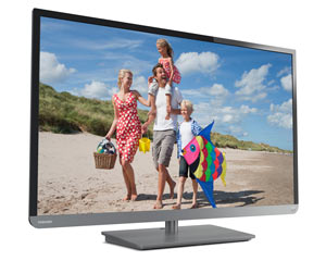 Toshiba 32L2400U 32-Inch 1080p 120Hz LED HDTV (Black/Gun Metal) Product Shot